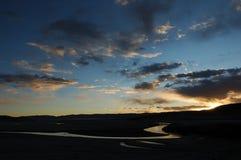 Il fiume a mezzaluna 2 della luna fotografie stock