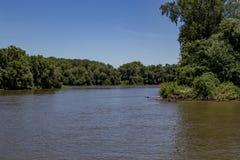Il fiume Mississippi Immagini Stock Libere da Diritti