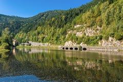 Il fiume Murg in Forbach Fotografie Stock Libere da Diritti