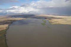 Il fiume Murray aereo Fotografie Stock