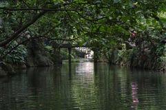 Il fiume nell'area scenica di Lingyin fotografia stock libera da diritti