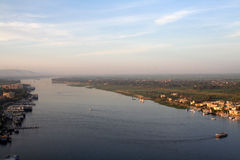 Il fiume Nilo - aereo/ha elevato la vista Immagini Stock Libere da Diritti