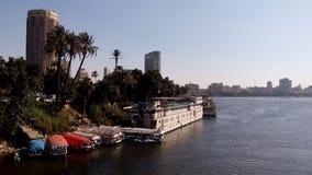 Il fiume Nilo a Cairo Fotografia Stock