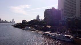 Il fiume Nilo a Cairo Immagini Stock Libere da Diritti