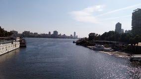Il fiume Nilo a Cairo Fotografia Stock Libera da Diritti