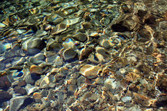 Il fiume oscilla la priorità bassa Immagine Stock Libera da Diritti