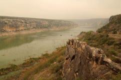Il fiume Pecos Fotografie Stock