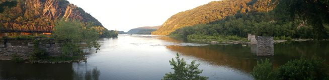 Il fiume Potomac Immagine Stock
