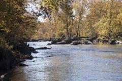 Il fiume Potomac in autunno Fotografia Stock