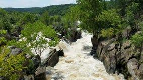 Il fiume Potomac a Great Falls archivi video