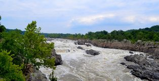 Il fiume Potomac Great Falls la Virginia immagine stock libera da diritti