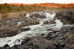 Il fiume Potomac a Great Falls Maryland Immagini Stock Libere da Diritti