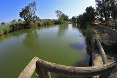 Il fiume rurale silenzioso Immagine Stock
