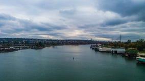 Il fiume Sava, Belgrado Serbia Fotografie Stock