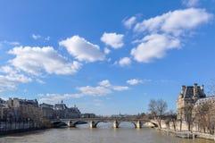 Il fiume Seine a Parigi Fotografia Stock Libera da Diritti
