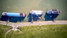 Il fiume si accovaccia case galleggianti - Essex Fotografia Stock