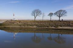 Il fiume Somme, Saint-Valery-sur-Somme fotografia stock libera da diritti