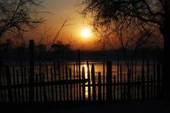 Il fiume Songhua di mattina Fotografie Stock Libere da Diritti