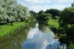 Il fiume Svisloch Fotografie Stock Libere da Diritti