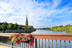 Il fiume Tay, Perth Scozia Immagini Stock