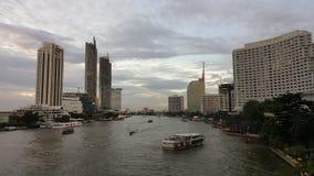 Il fiume in tensione di Bangkok fotografia stock libera da diritti
