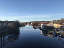 Il fiume Tista in Halden immagini stock