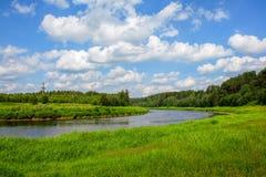 Il fiume Tvertsa Fotografia Stock Libera da Diritti
