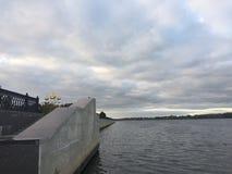 Il fiume Volga Fotografie Stock