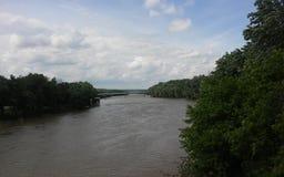 Il fiume Wabash fotografie stock