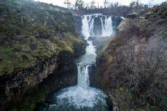 Il fiume White cade l'Oregon Fotografia Stock