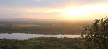 Il fiume White in Oufa, Russia fotografia stock libera da diritti