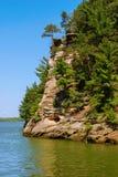 Il fiume Wisconsin vicino ai Dells di Wisconsin Fotografie Stock Libere da Diritti