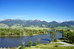 Il fiume Yellowstone Fotografia Stock