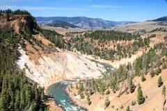 Il fiume Yellowstone Immagini Stock