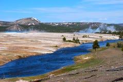 Il fiume Yellowstone Fotografie Stock Libere da Diritti