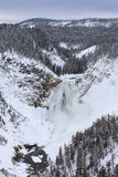 Il fiume Yellowstone superiore congelato nell'inverno Fotografia Stock Libera da Diritti