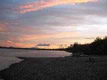 Il fiume Yukon Fotografia Stock
