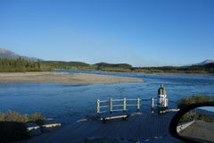 Il fiume Yukon vigoroso Fotografia Stock