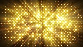 Il flash accende il fondo dell'estratto della parete della discoteca Fotografia Stock