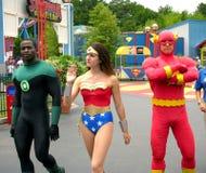 Il flash, la lanterna verde e la donna eccellente Immagini Stock Libere da Diritti