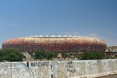 Il FNB Stadium fotografie stock