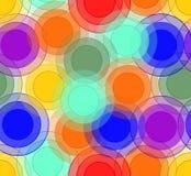 Il fondo allegro con la sovrapposizione circonda nei colori dell'arcobaleno Fotografie Stock Libere da Diritti