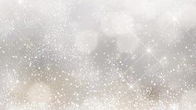 Il fondo animato di Natale di scintillare si accende sul fondo del bokeh stock footage