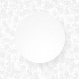 Il fondo astratto bianco con carta 3D ha tagliato le case illustrazione vettoriale