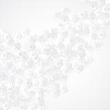 Il fondo astratto bianco con carta 3D ha tagliato le case illustrazione di stock