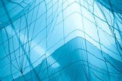 Il fondo astratto blu, il parashute, curvatura allinea Concetto per il fondo del computer Immagine Stock Libera da Diritti