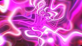 Il fondo astratto di energia di incandescenza con gli effetti visivi dell'onda e dell'illusione, 3d rende la generazione del comp stock footage