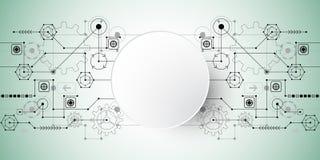 Il fondo astratto di vettore mostra l'innovazione della tecnologia e dei concetti della tecnologia Fotografia Stock