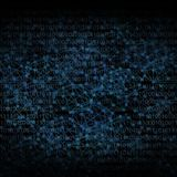 Il fondo astratto gradisce l'illustrazione digitale della rete nello scuro Fotografia Stock Libera da Diritti