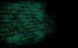 Il fondo astratto gradisce l'illustrazione digitale della rete nello scuro Fotografia Stock